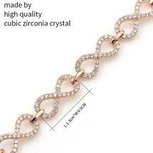 Infinity Crystal Charm Bracelet