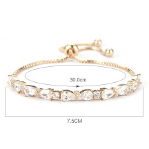 Ribbon Crystal Charm Bracelet