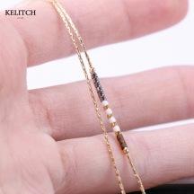 Crystal Beaded Charm Bracelet