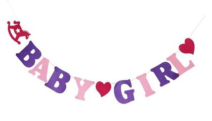 baby girl gender reveal baby shower banner from tokyo with love